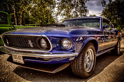 1969 Ford Mustang photographed on May 26, 2013 during the Utica Ice Cream Festival at the Ye Olde Mill in Utica, Ohio.