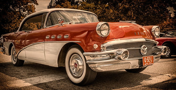 1956 Buick photographed during the 21st Blast from the Past Car Show in downtown Delaware, Ohio on July 26, 2014.