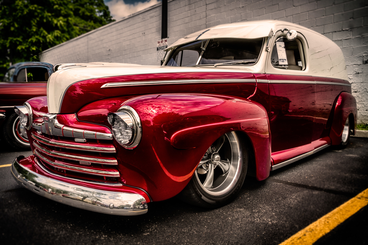 1946 Ford Sedan Delivery photographed during the 21st Blast of the Past Car Show in downtown Delaware, Ohio on July 26, 2014.
