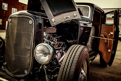 1932 Ford photographed during the Dan Emmett Music & Arts Festival in downtown Mount Vernon, Ohio on August 11, 2013.