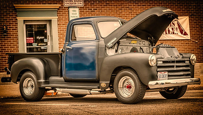 Chevy 3100 Pickup Truck photographed during First Friday on Public Square in Mount Vernon, Ohio on May 2, 2014.