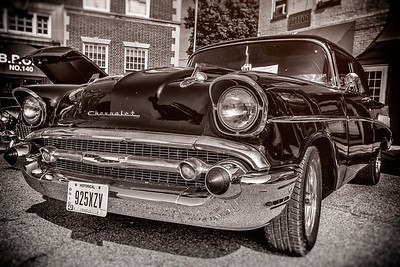 1957 Chevy photographed during the Dan Emmett Music & Arts Festival in downtown Mount Vernon, Ohio on August 11, 2013.