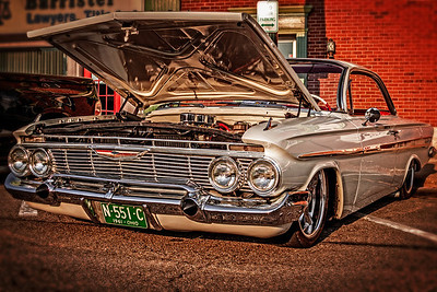 Classic Impala at First Friday festival in Mount Vernon, Ohio. Photographed on August 3, 2012.