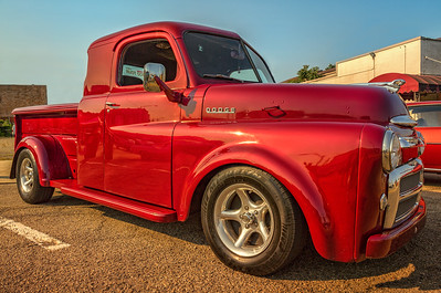After post processing. Dodge truck photographed during the Dan Emmett Festival car show on August 16, 2015.