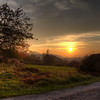 Sunset over Beroun