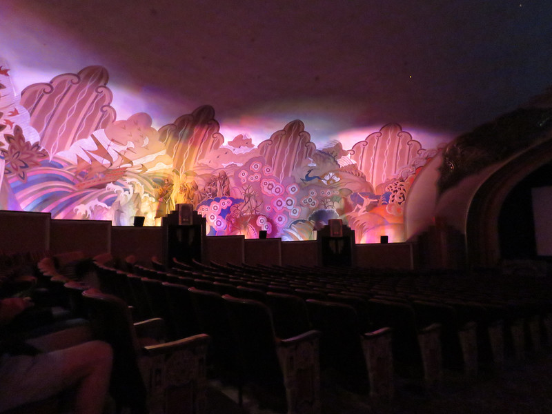 The left side of the theatre when the lights are dimmed.