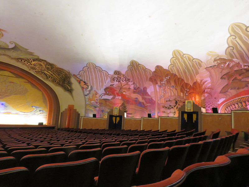 The right side of the theatre.