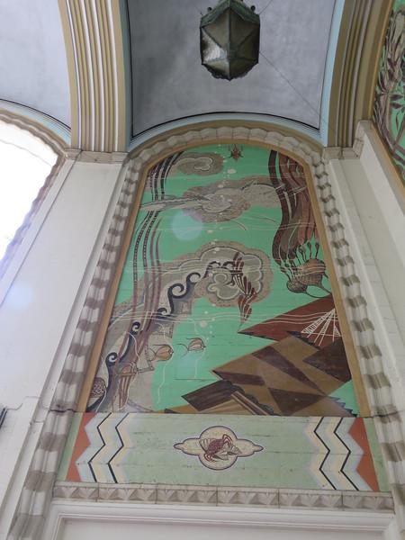 Atlantis inspired tiled mural.