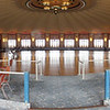 A stitched photo of the ballroom from 4 photos.