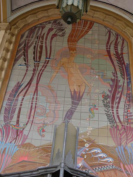 The famous mermaid tile mural
