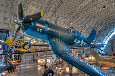 Vought F4U-1D Corsair WWII had the first airplanes that people really feared, both in the air and from the ground. This F4U-1D Corsair is on display at the Steven F. Udvar-Hazy Center.