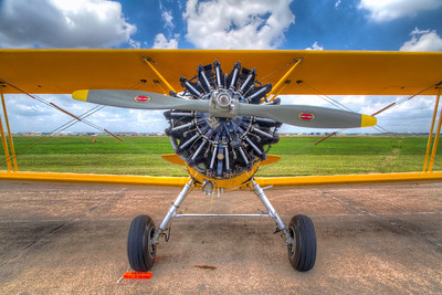 The Stearman Biplane This beauty, built in 1942 as a Naval aircraft, now flies with the Commemorative Air Force, with the West Houston Squadron at the West Houston Airport.