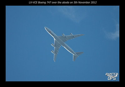 Boeing 747 LX-VCE of Cargolux on 05/11/2012