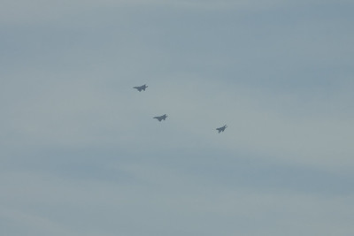 F-15C's in the hold for Duxford Airshow on 08/09/2012