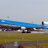 KLM MD-11 pounding into the pavement in Montreal<br /> <br /> CYUL October 2012