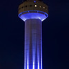 Lit up for the evening KMHT tower January 2013