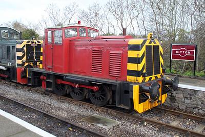 Ruston & Hornsby 0-6-0DH 429 (466618) Avon Valley railway  03/12/11.