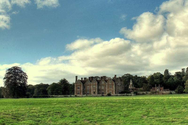 Braemore House, overlooking farmland.