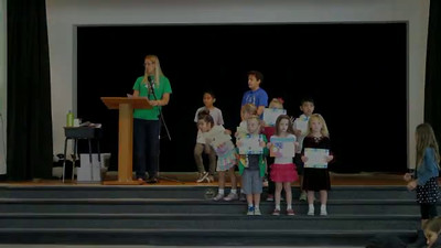 Video of Ashley getting award for Radical Reading and Awesome Artist