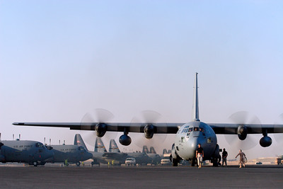3rd Place, ROA 2006:  Air Force Reserve C-130 launches on mission in Southwest Asia.