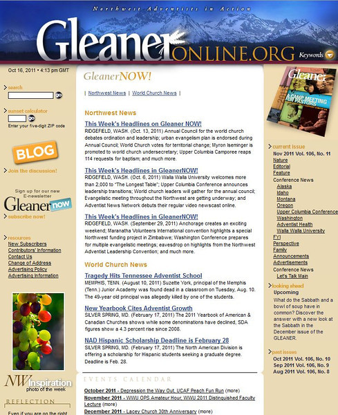 2011 10-16 Gleaner online newspaper featured photo