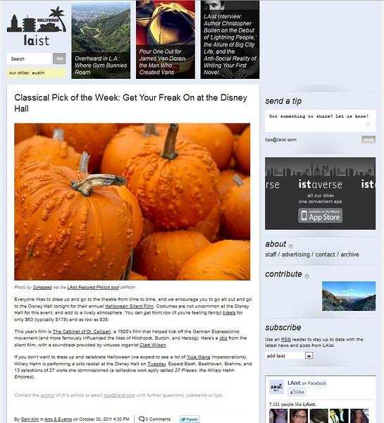 2011 10-30 LAist online newspaper