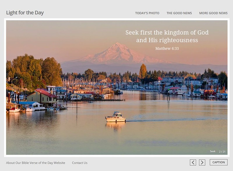 """<a href=""""http://lightfortheday.com/"""">Light for the Day</a> Bible Verse of the Day website"""