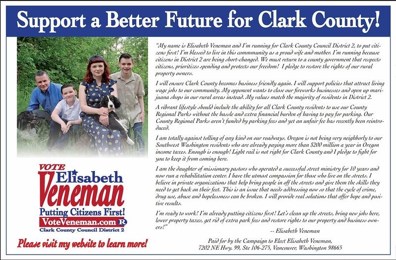 I took Elisabeth Veneman's campaign photos