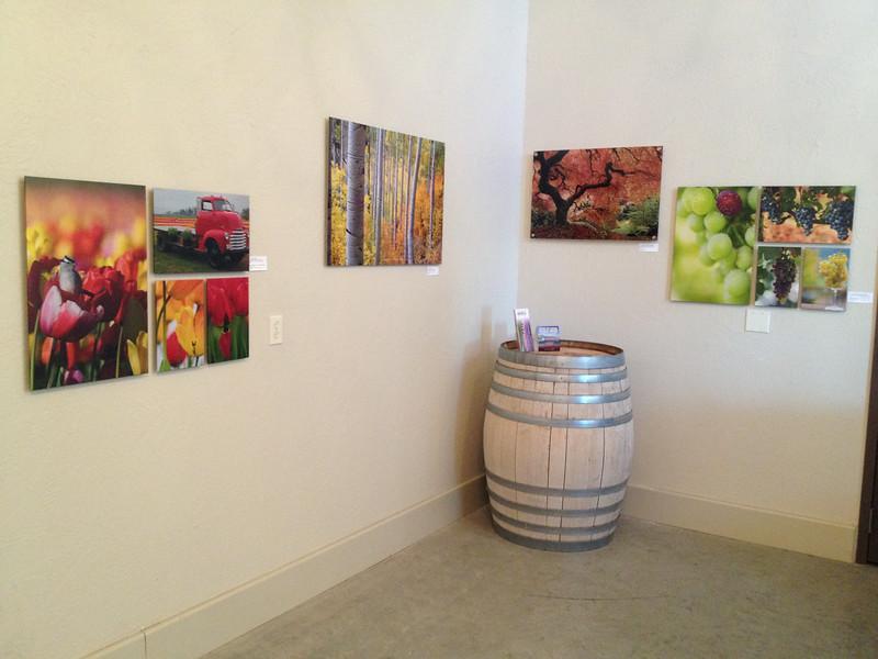 Art show at Something Big Cellars