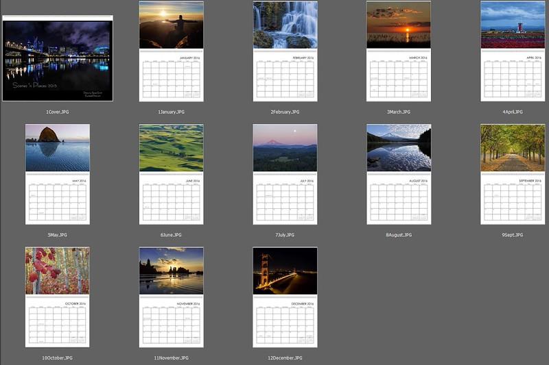 2016 Scenes 'n Places calendar