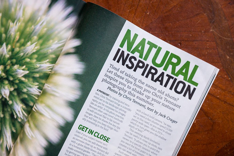 "The July 2015 issue of ""Popular Photography"" magazine ran a feature called ""Natural Inspiration: Break the Rules of Nature Photography"" utilizing 9 of my photographs."