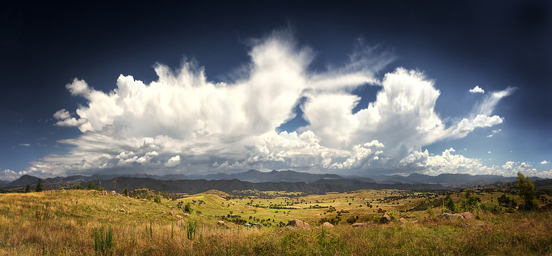 Storm brewing over the Brindabellas, Canberra<br /> Bronze Award<br /> Epson International Pano Awards