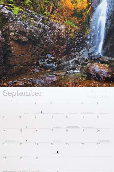 My photograph of Rainbow Falls is featured in the 2014 Adirondack Life calendar.