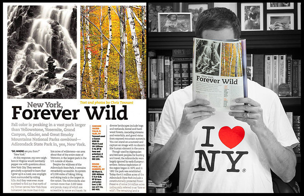 """My feature article about the Adirondack State Park was published in the October 2013 issue of """"Popular Photography"""""""