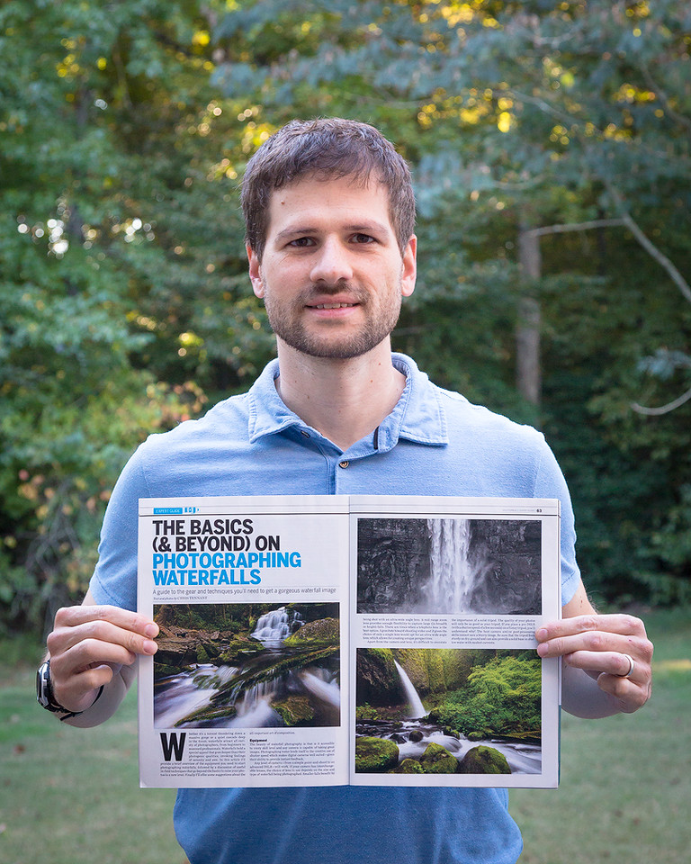 "I contributed an article on how to photograph waterfalls to the 2015 edition of Shutterbug's ""Expert Photo Techniques"" issue."