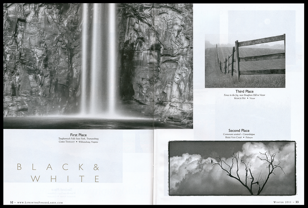 First place in the Black & White category in <I>Life in the Finger Lakes</I> 2011 Photo Contest.
