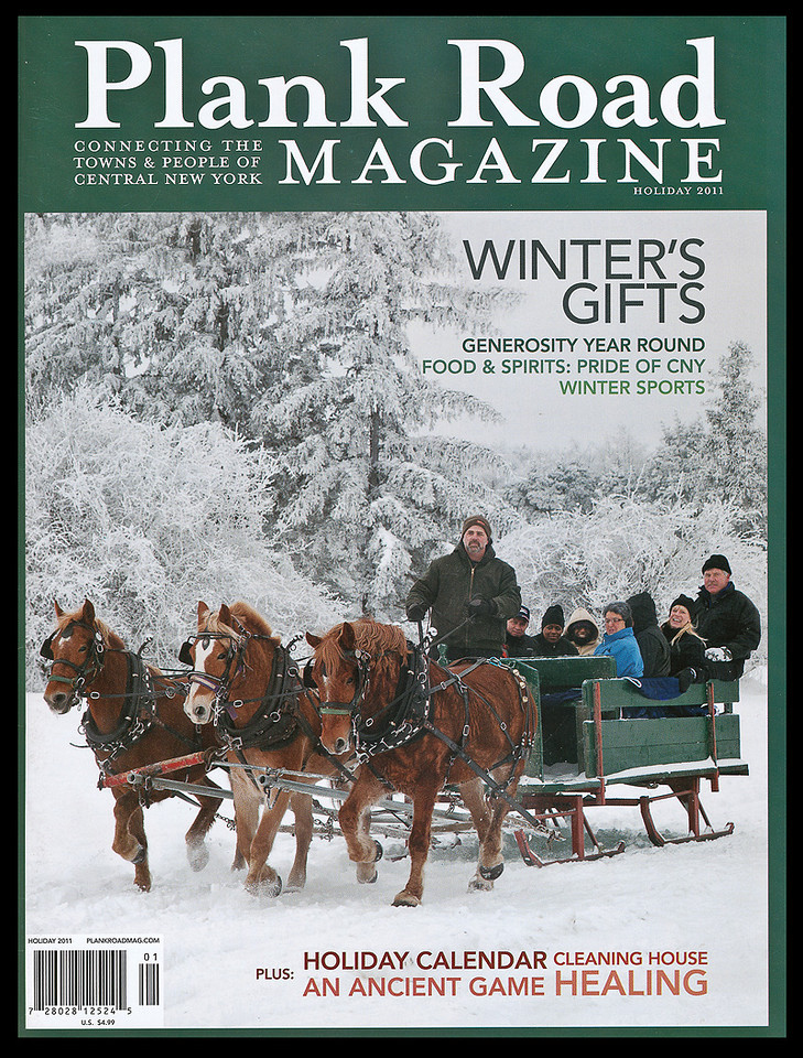 This photograph was used as the cover of the Holiday Issue of <I>Plank Road</I> magazine.