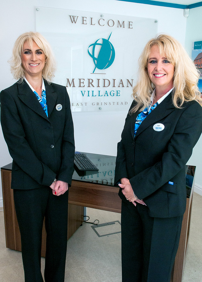 Aylesworth Fleming shoot at Meridian Village (Fairfield New Homes Development) at East Grinstead with employees Kim Cresswell and Samantha Bridle. 20th September, 2015 - Picture Andy Brooks - 07963 177276