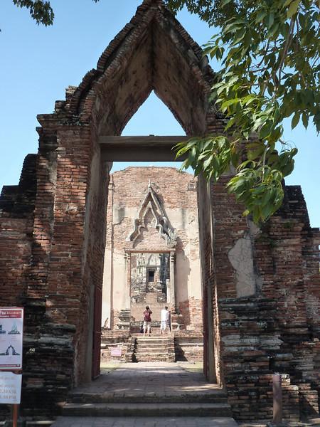 Entry to Wat Ratchaburana, Ayutthaya
