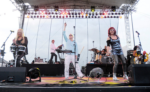 The B-52s in concert at Hoosier Park Racing & Casino on Saturday.