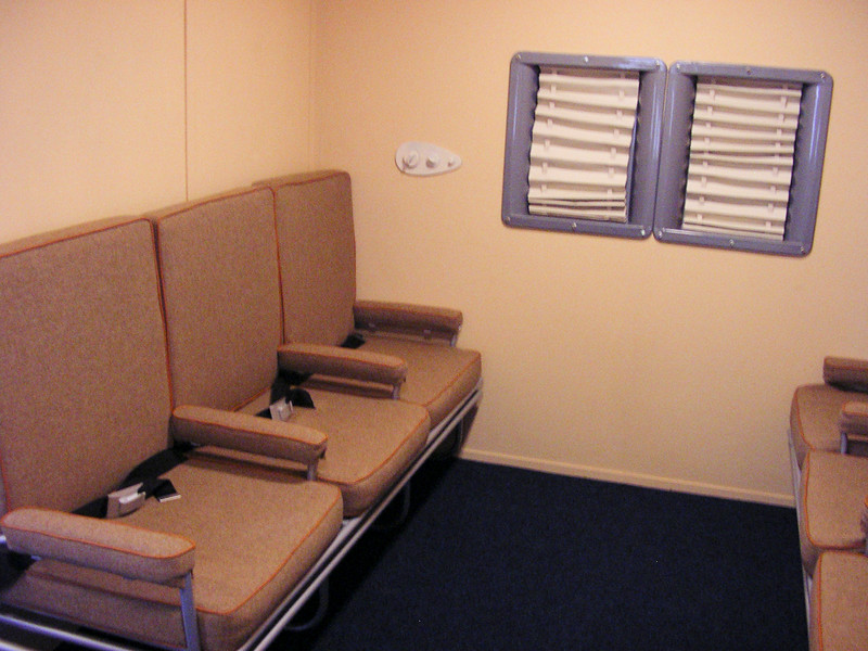 "Interior shot showing passenger seats of our full size B314 replica ""Yankee Clipper""."