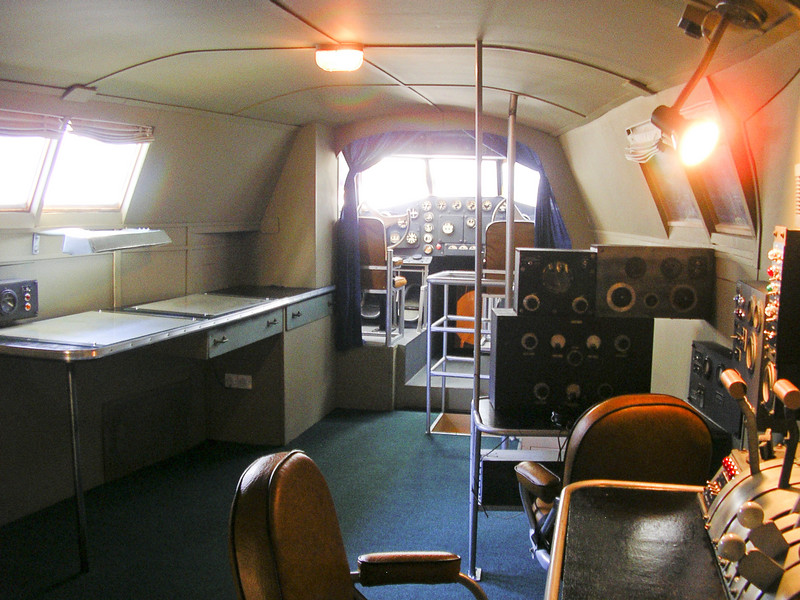 "View of the flight deck of our full size Boeing 314 replica ""Yankee Clipper""."
