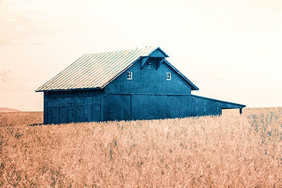 Old Country Club Road Barn #2 Blue