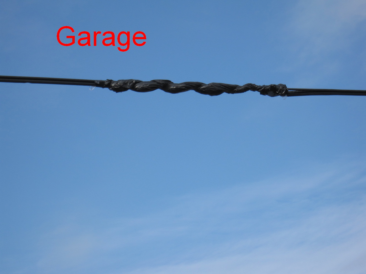Truck Garage - Aerial cable