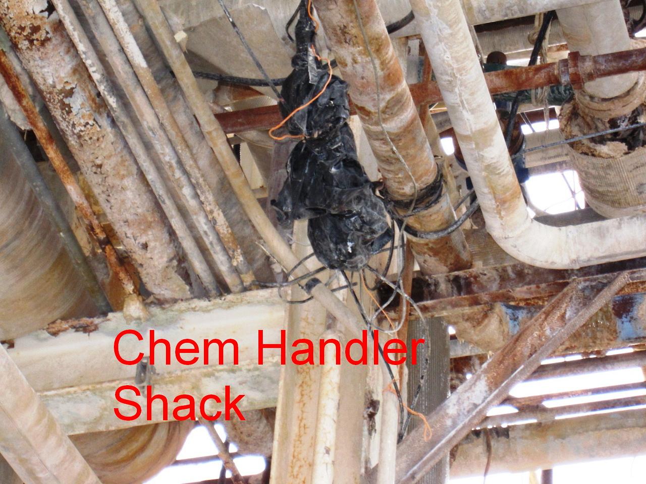 Chemical Handler Shack aerial junction