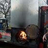 Its a natural wood burner.