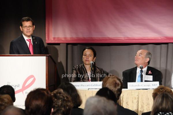 Clifford Hudis, Martine Piccart-Gebhart, Eduardo Cazap <br /> photo by Rob Rich © 2009 robwayne1@aol.com 516-676-3939