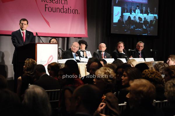 Clifford Hudis, Martine Piccart-Gebhart, Eduardo Cazap, Ephrat Levy-Lahad, Larry Norton, Alan Ashworth, Jose Balega<br /> photo by Rob Rich © 2009 robwayne1@aol.com 516-676-3939
