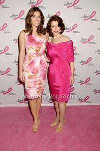 Elizabeth Hurley, Evelyn Lauder photo by Rob Rich © 2009 robwayne1@aol.com 516-676-3939
