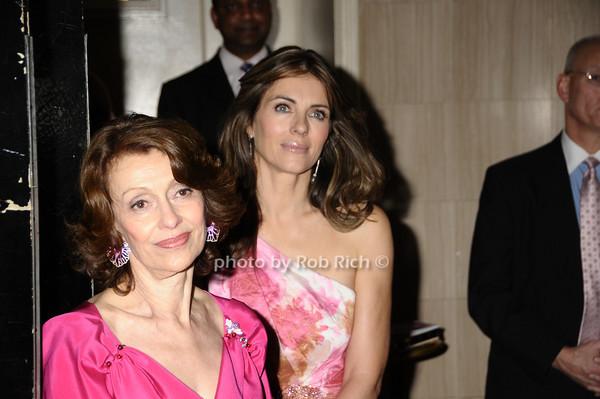 Evelyn Lauder, Elizabeth Hurley<br /> photo by Rob Rich © 2009 robwayne1@aol.com 516-676-3939